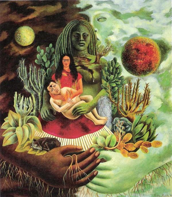 frida kahlo de liefdevolle omarming van het universum