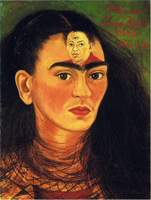 frida kahlo diego and eye derde oog