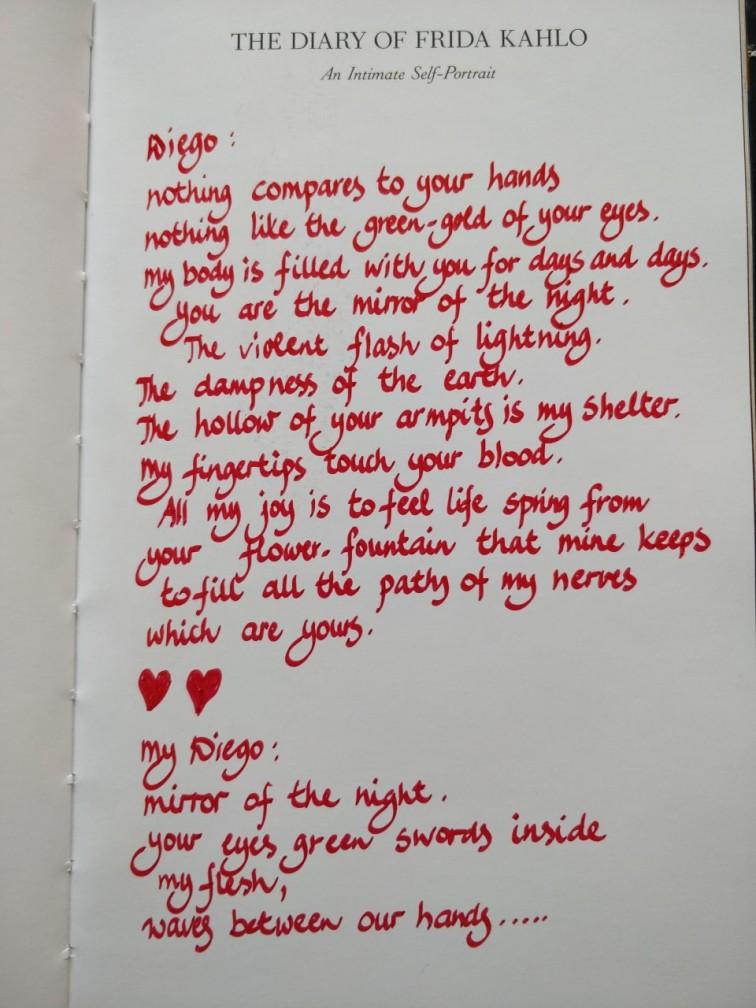 Frida Kahlo Diego dagboek