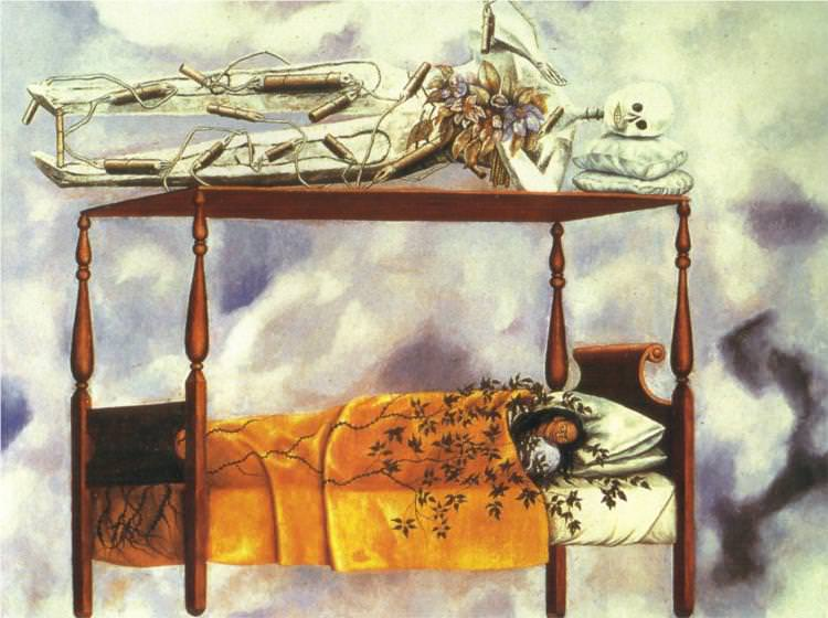 frida kahlo the dream, the bed 1940
